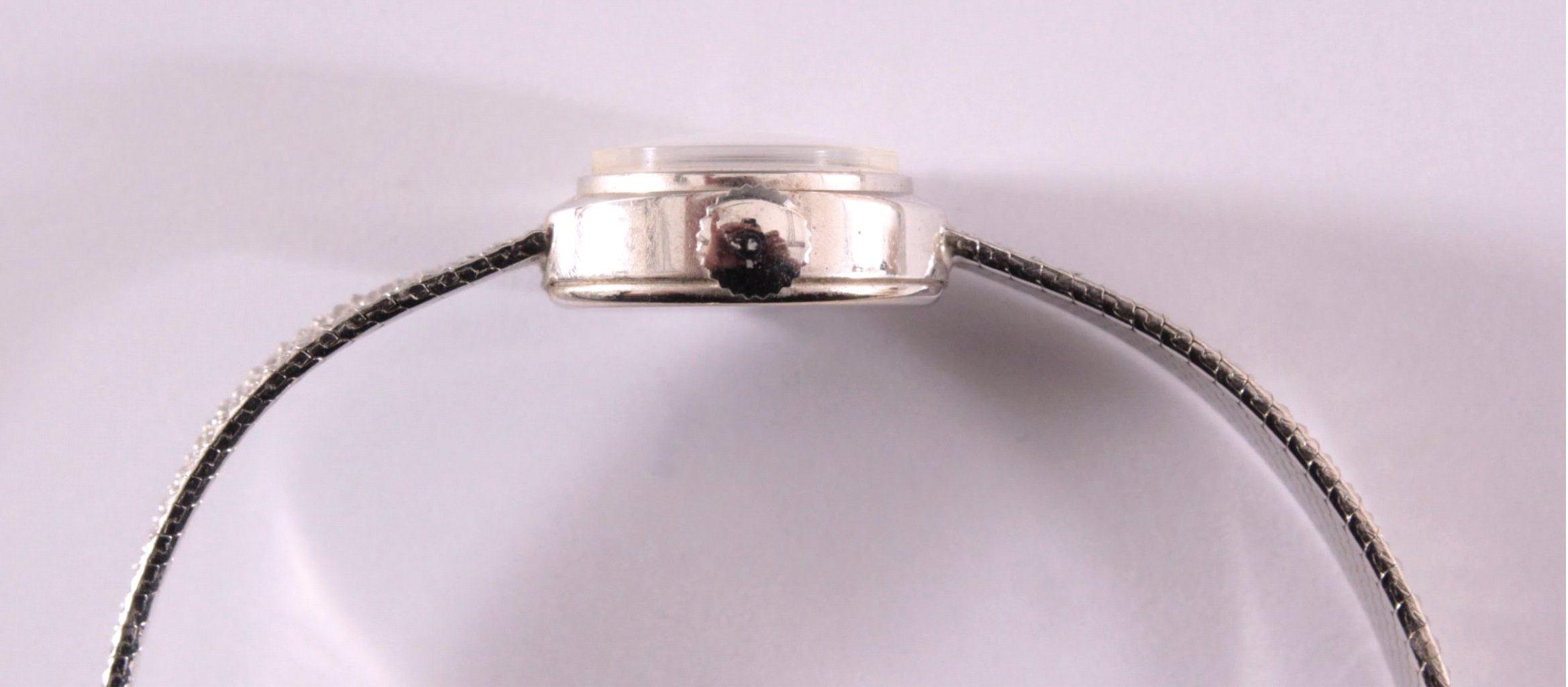 Roxy Anker Damenarmbanduhr, 14 Karat Weißgold-4