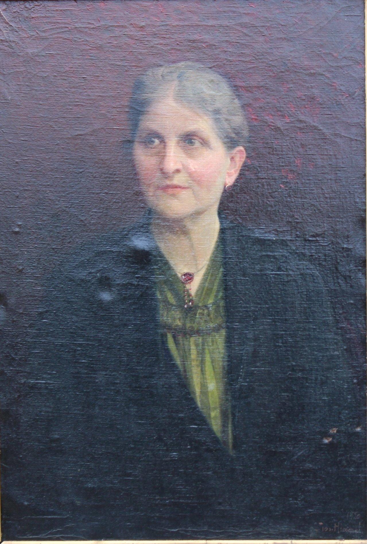 Joseph Himmel 1869-1941, Damen und Herrenportrait von 1920