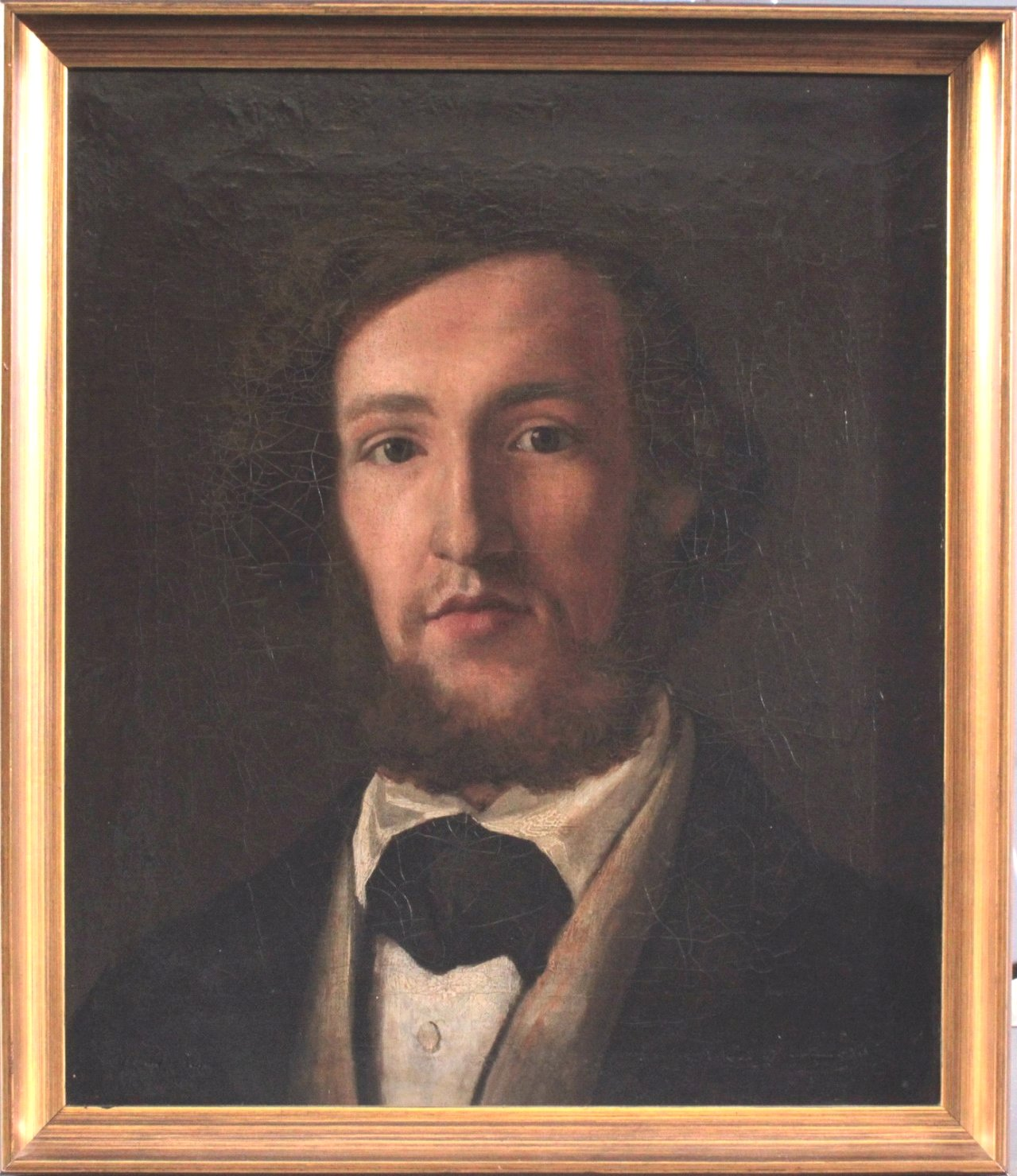 "B. Fried ?-?, Biedermeier Gemälde ""Herrenportrait"""