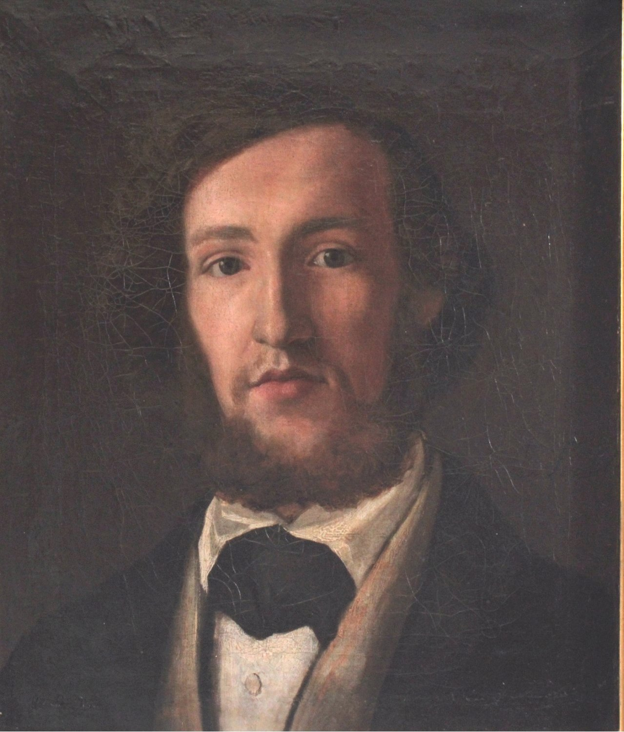 "B. Fried ?-?, Biedermeier Gemälde ""Herrenportrait""-1"