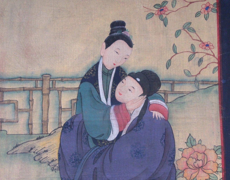 Japanische Malerei, Liebespaar um 1900