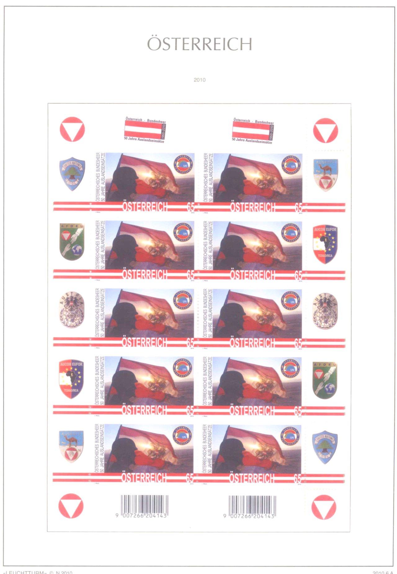 Österreich, 2006-2016 postfrisch, über 1000 Euro Nomi