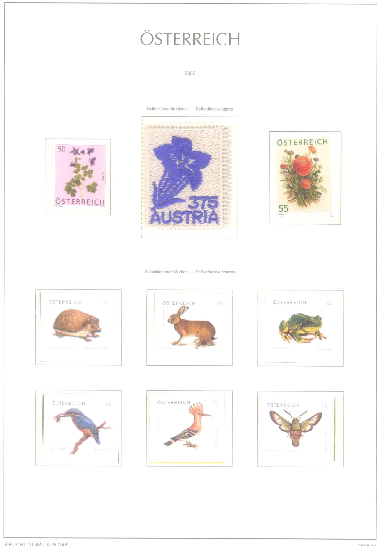Österreich, 2006-2016 postfrisch, über 1000 Euro Nomi-2