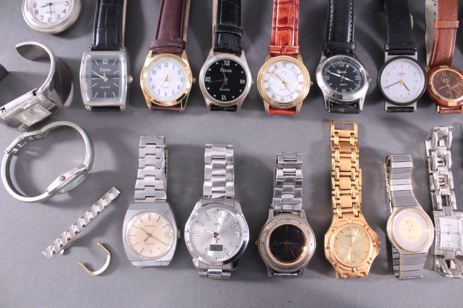 Uhren-Konvolut. 25 Stück, Taschen und Armbanduhren-4