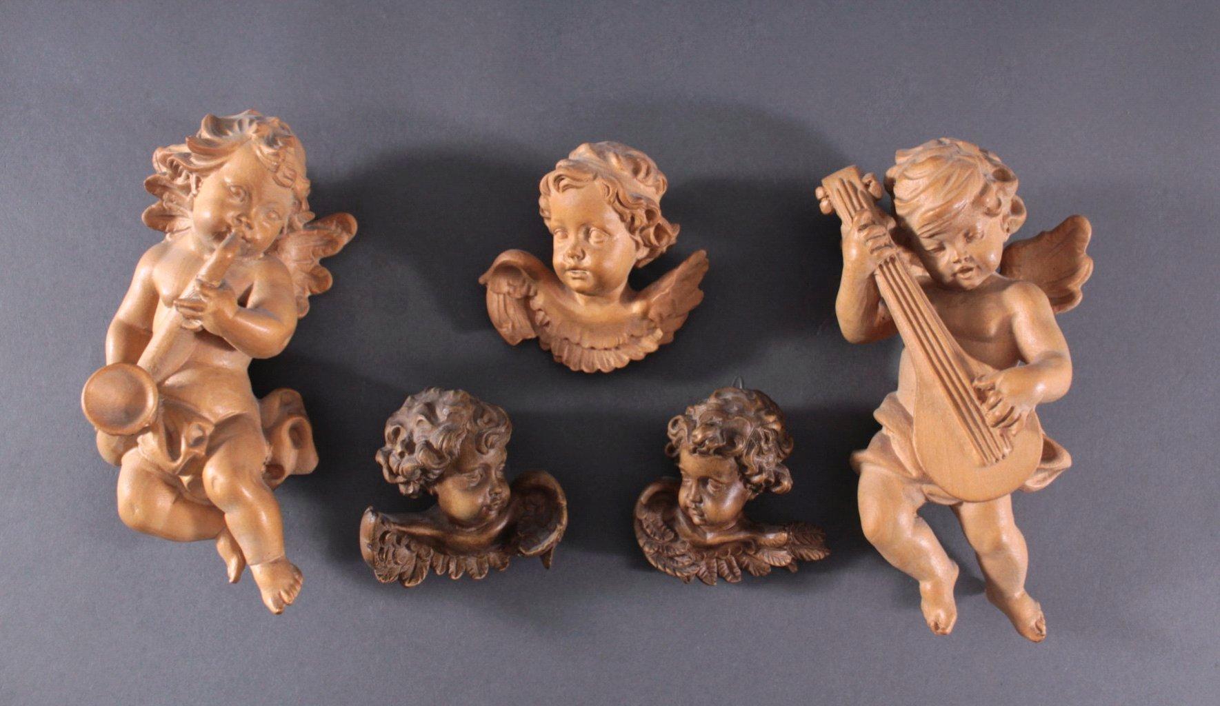 Fünf Engelfiguren, Barock-Stil