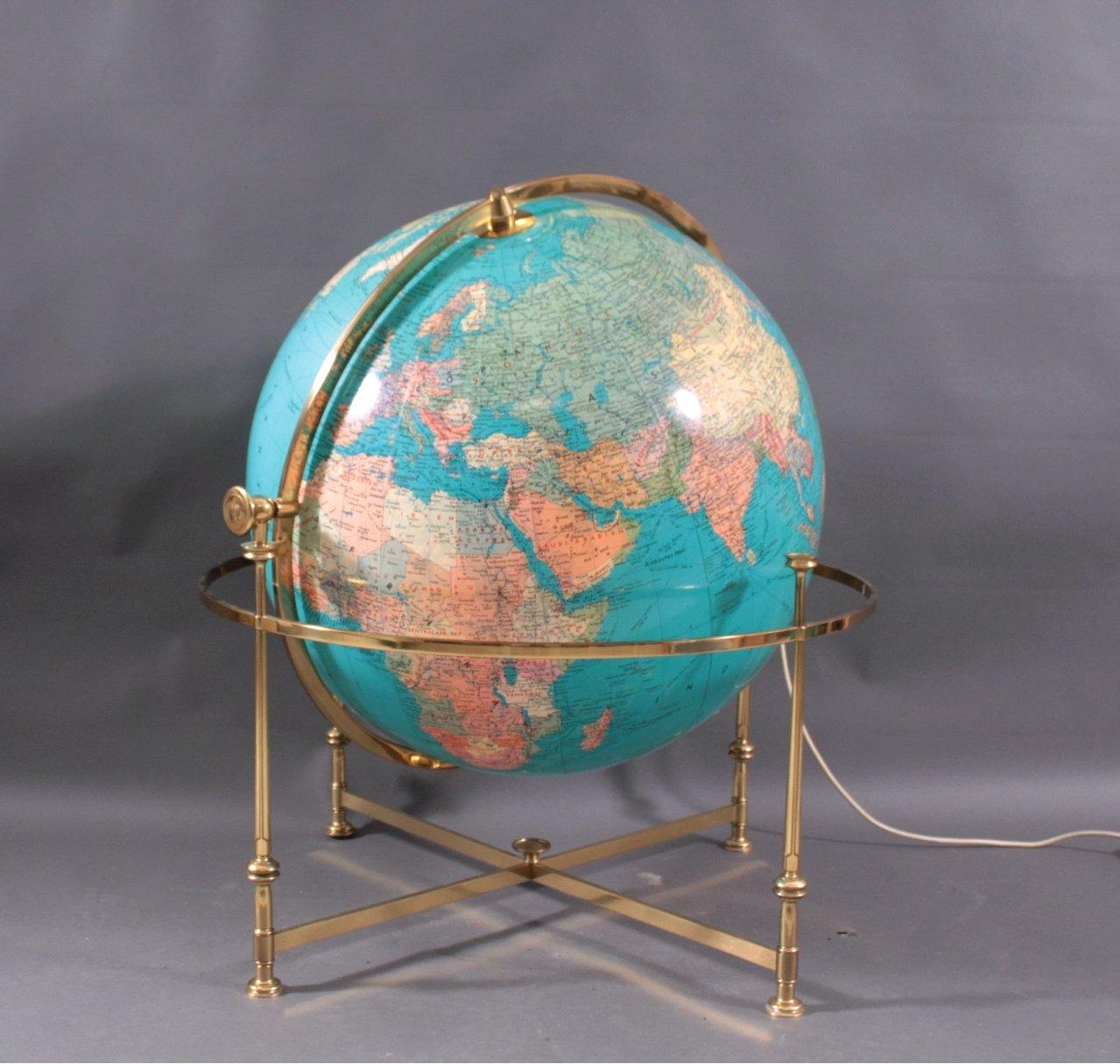 Vintage Globus aus Acryl von JRO, 1976