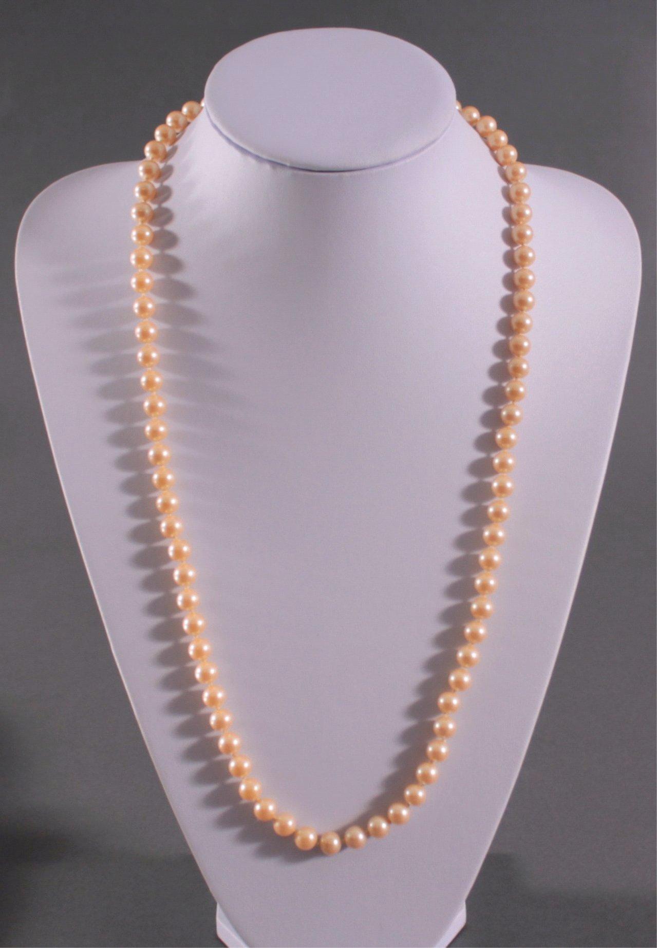 Perlenkette mit 835er Silberschließe