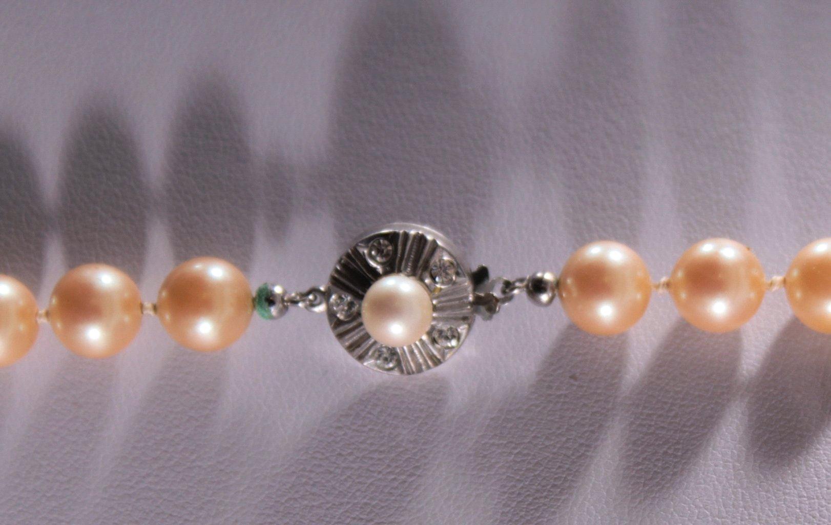 Perlenkette mit 835er Silberschließe-2