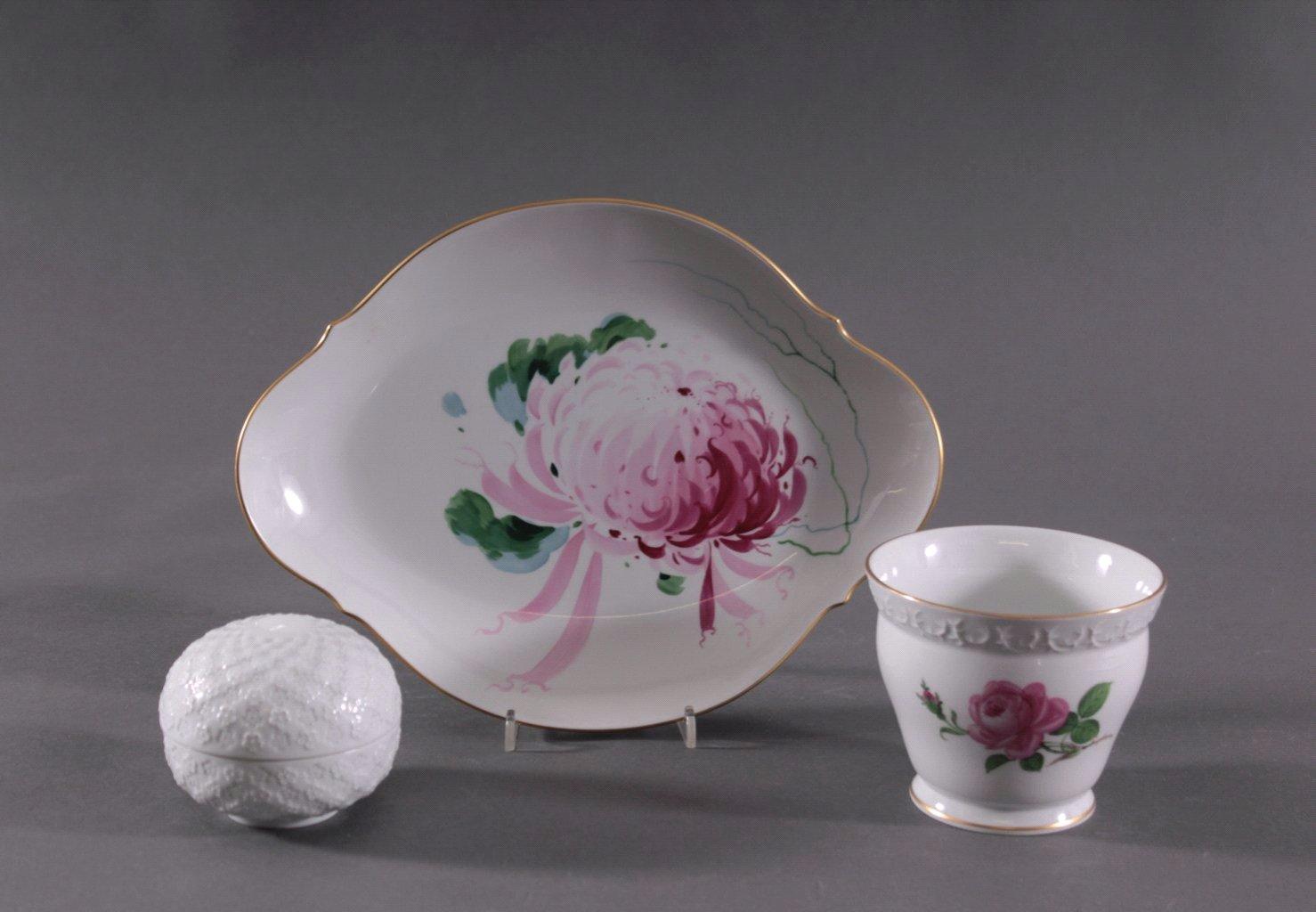 Meissen Porzellan, 3 Teile, 20. Jahrhundert