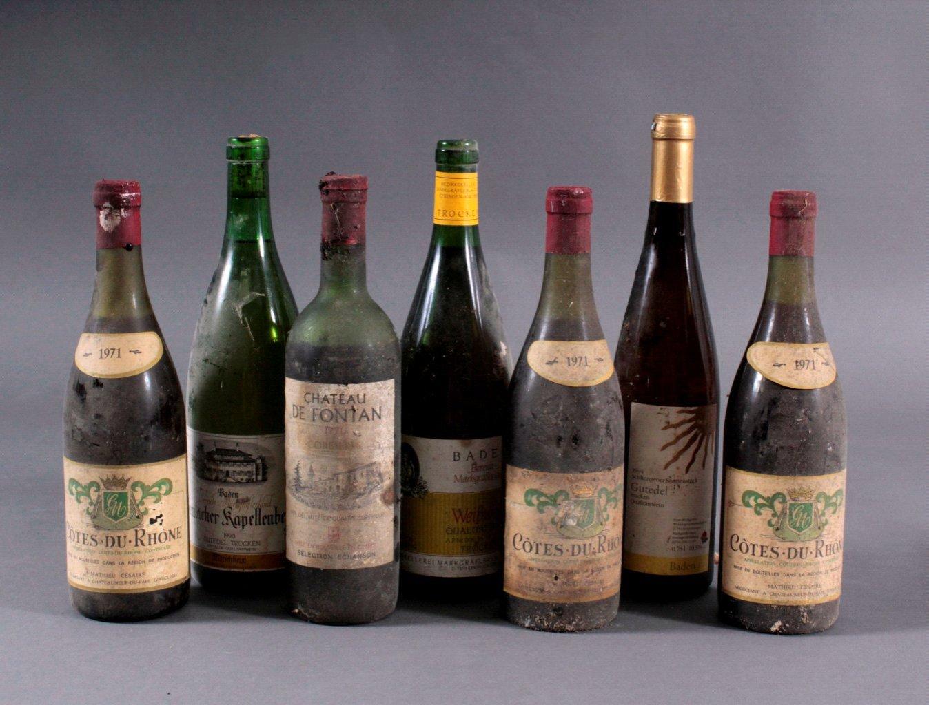 7 Flaschen  Rot und Weißweine