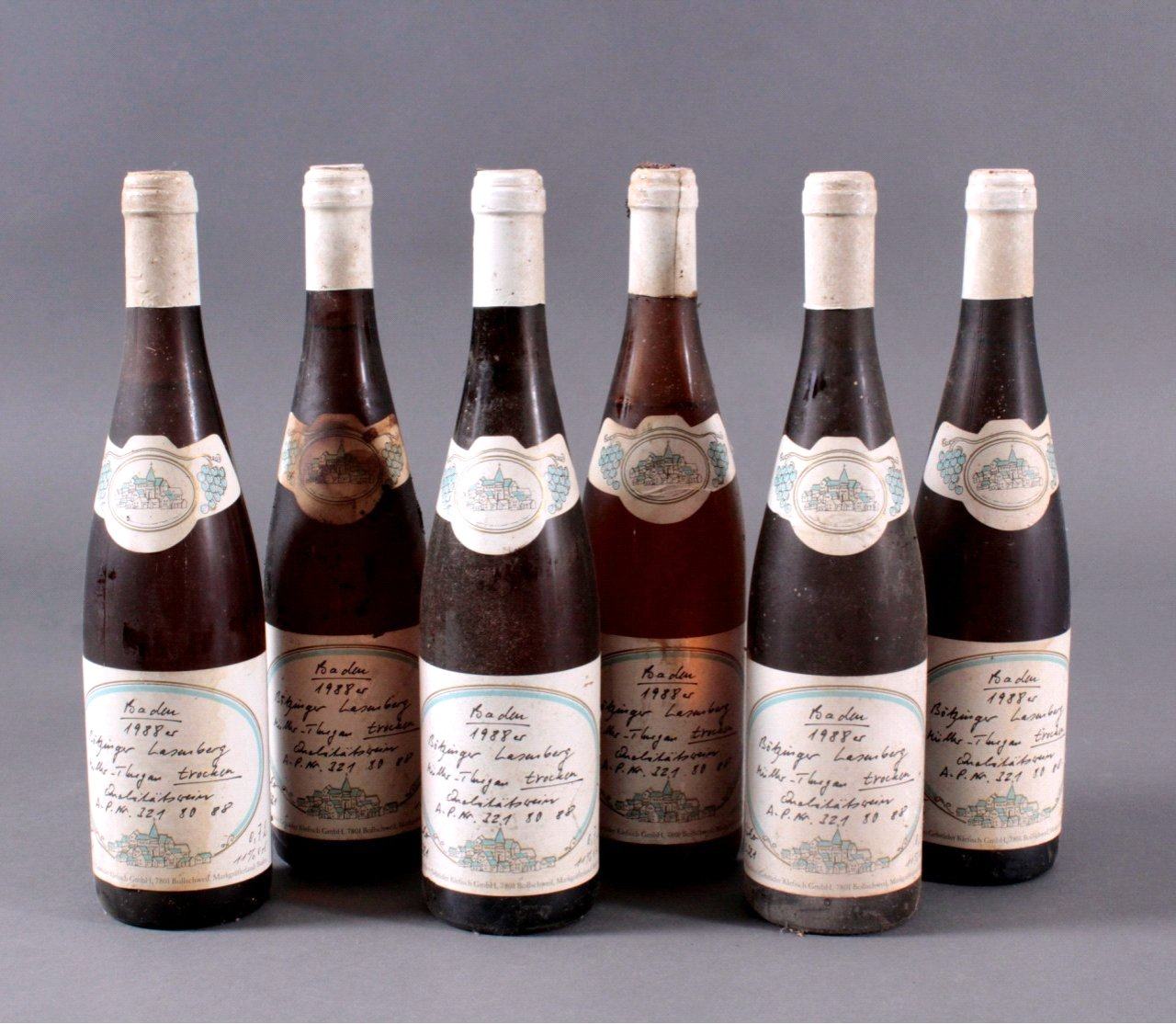 6 Flaschen 1988er Bötzinger Lesenberg