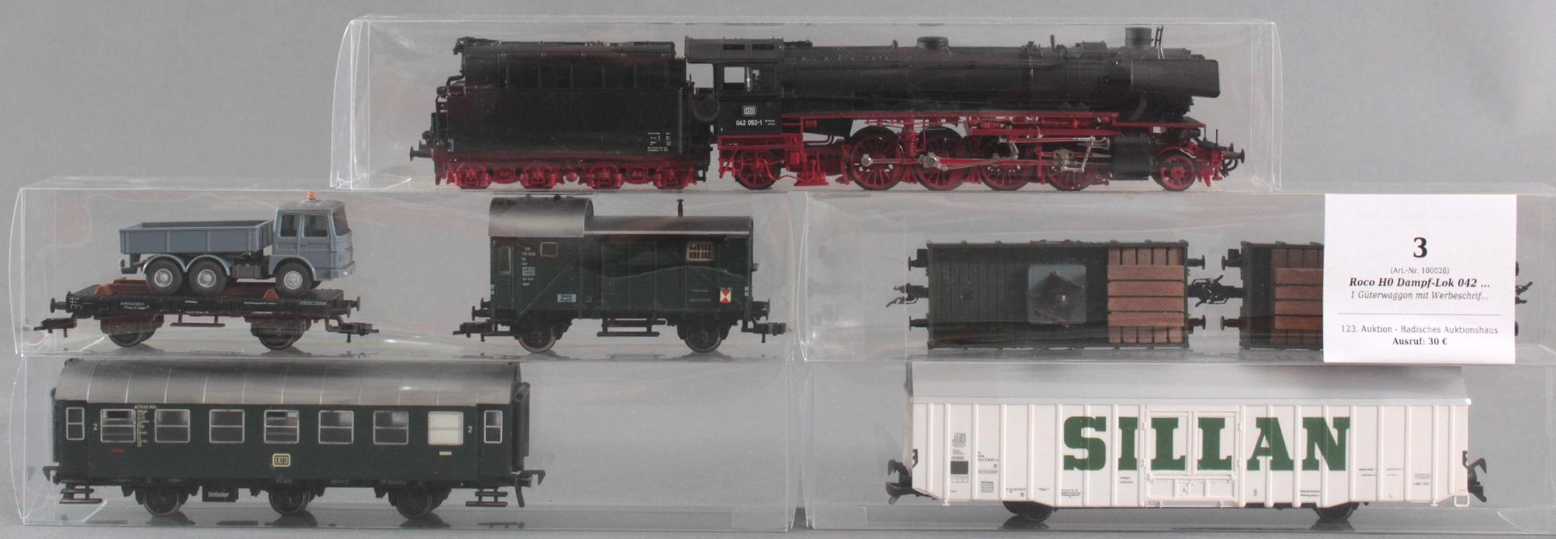 Roco H0 Dampf-Lok 042 052-1 mit 6 Fleischmann Waggons