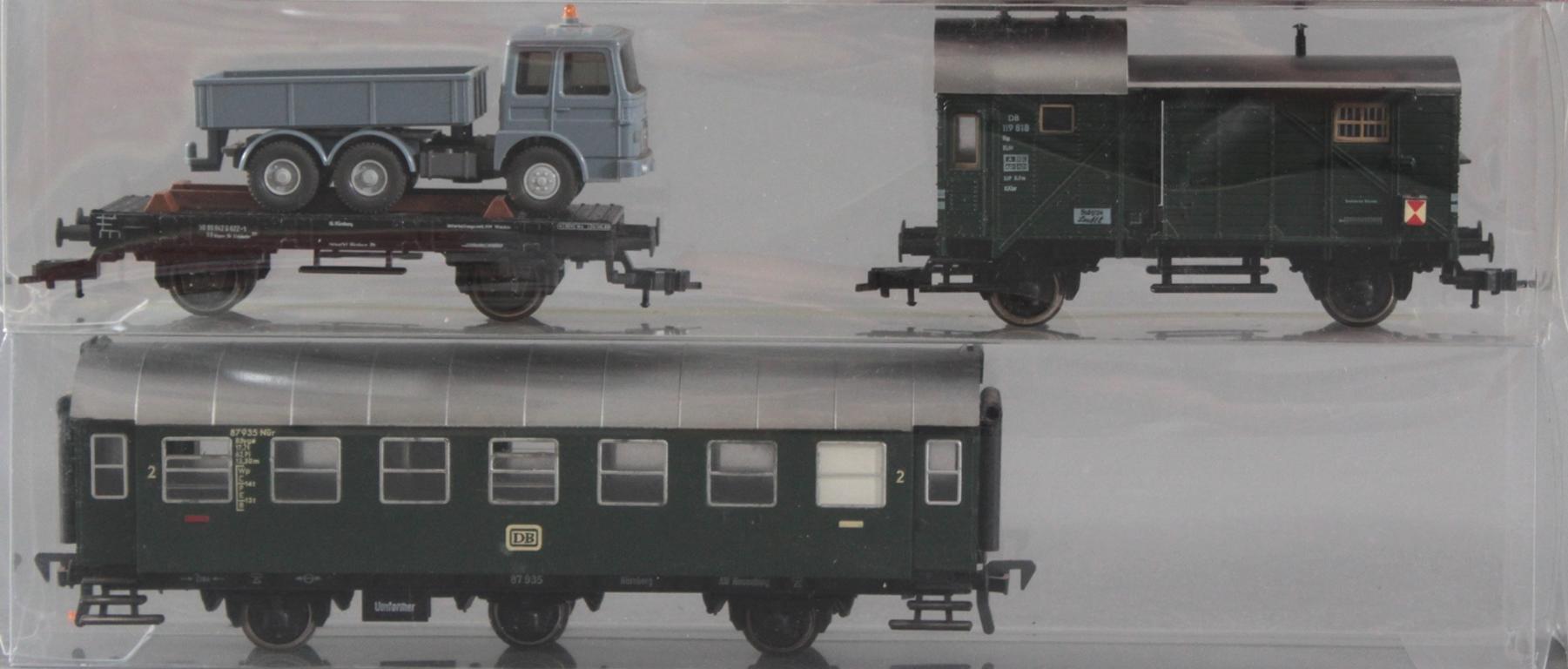 Roco H0 Dampf-Lok 042 052-1 mit 6 Fleischmann Waggons-3