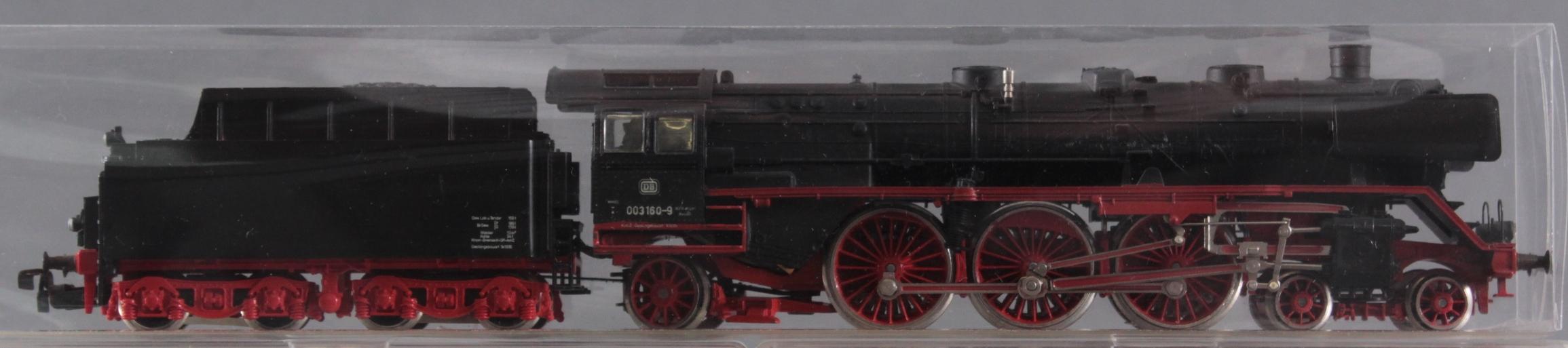 Märklin H0 Dampflok 003 160-9 mit 6 Fleischmann Güterwaggons-2