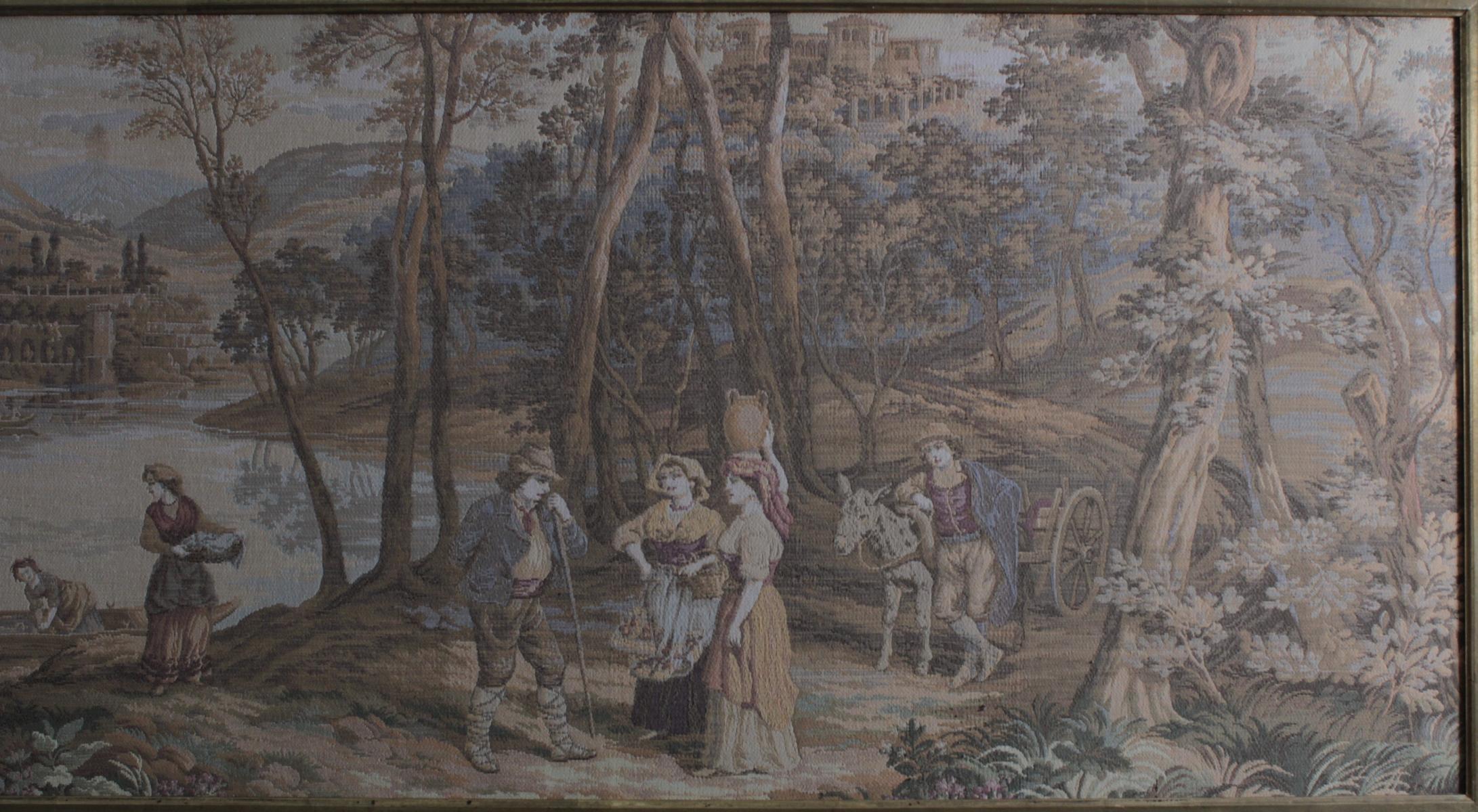 Großer Gobelin, mittelalterliche Szene, 2. Hälfte 20. Jh.-3