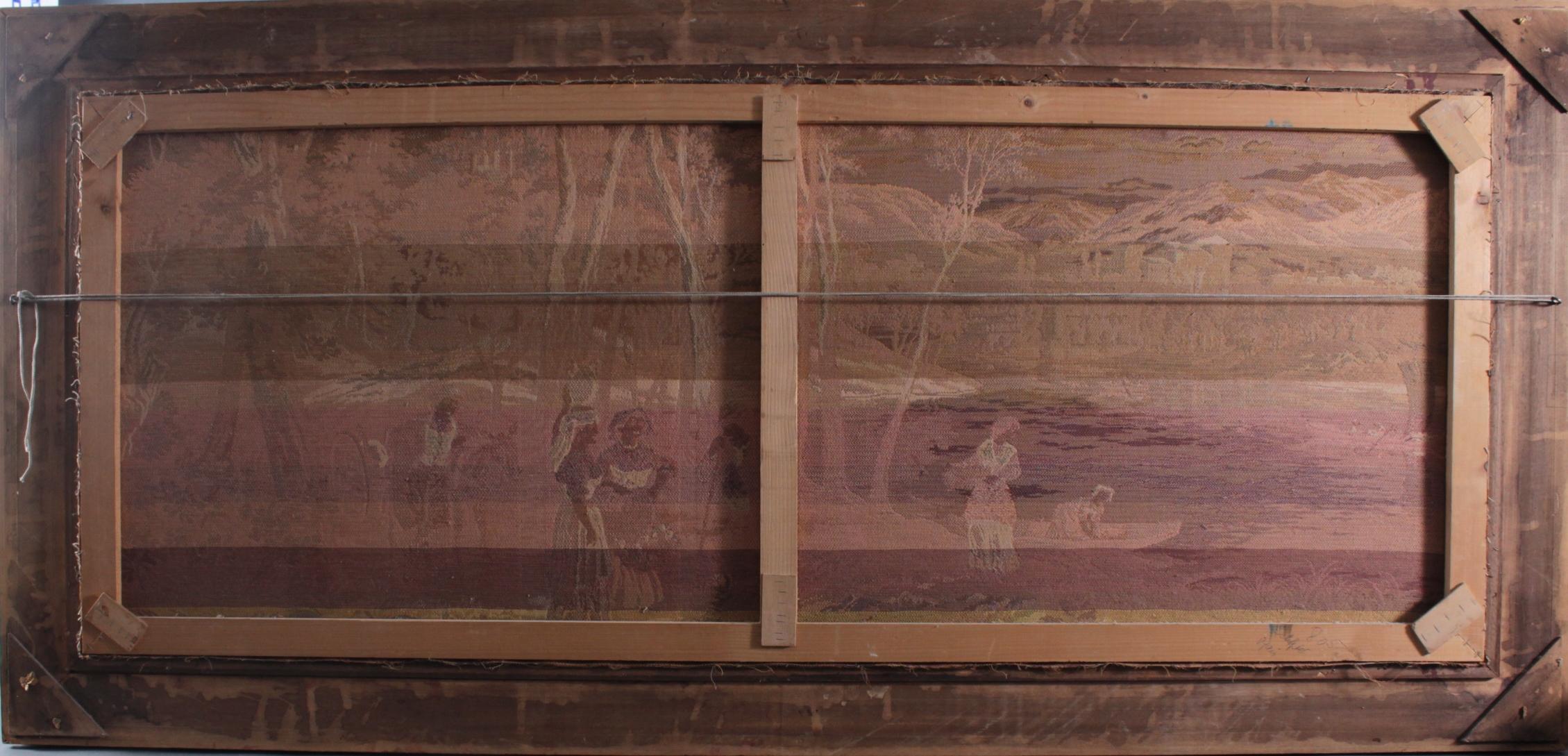 Großer Gobelin, mittelalterliche Szene, 2. Hälfte 20. Jh.-4