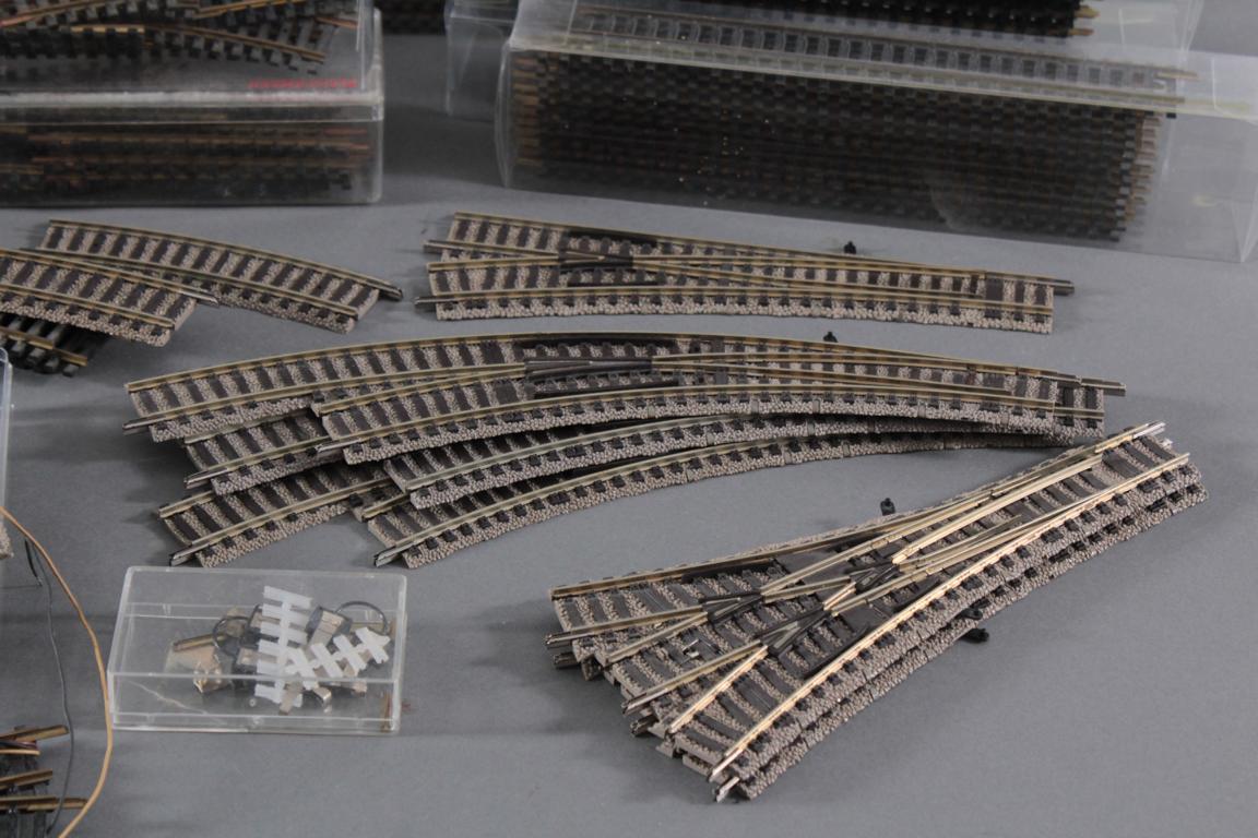 Großes Konvolut Fleischmann Gleismaterial Spur H0-4