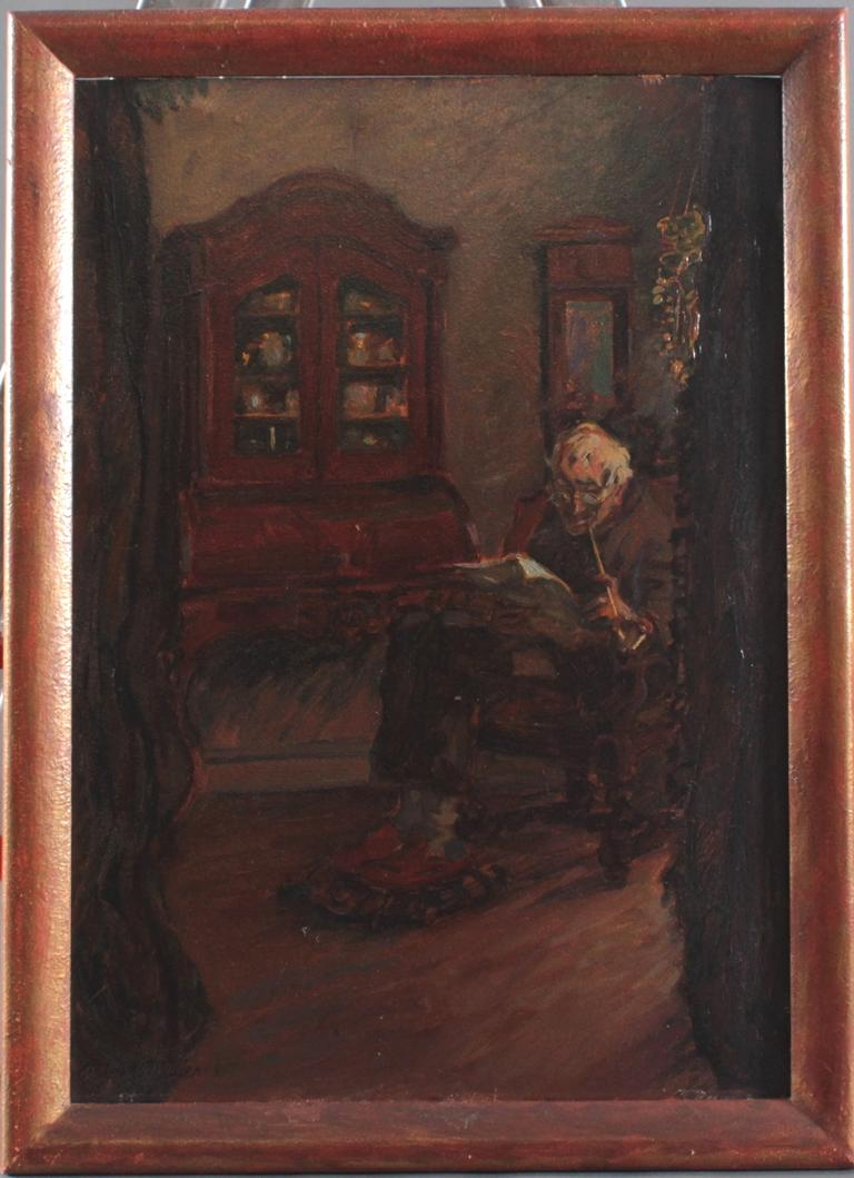"""Hans Adolf Müller (1888-1934). Sein Abendpfeifchen"""""""""""