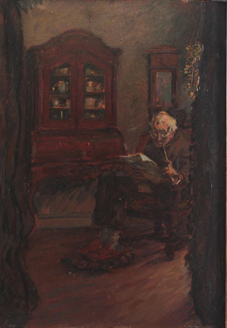 """Hans Adolf Müller (1888-1934). Sein Abendpfeifchen""""""""-2"""