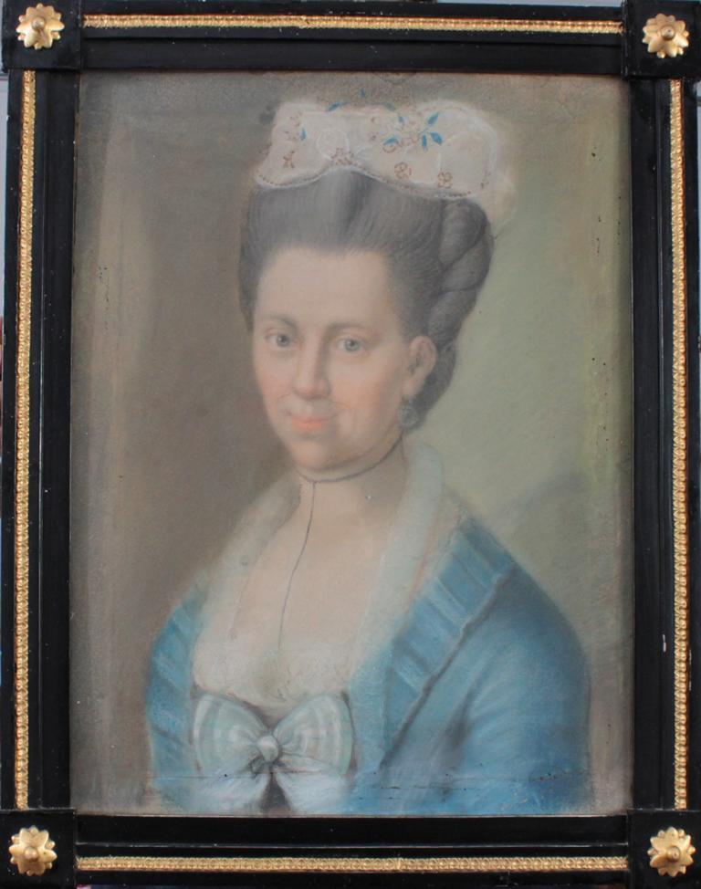 Damenporträt aus dem 18. Jh., Elisabeth Jäger geb. 1741 in Stuttgart