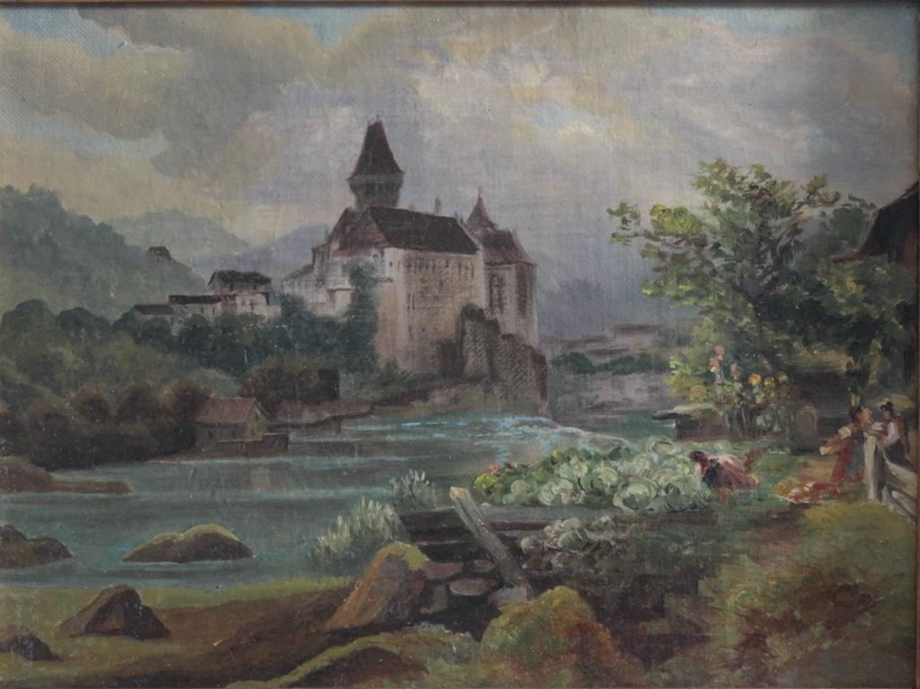 Burg am Fluss und Personen, 19. Jahrhundert-2