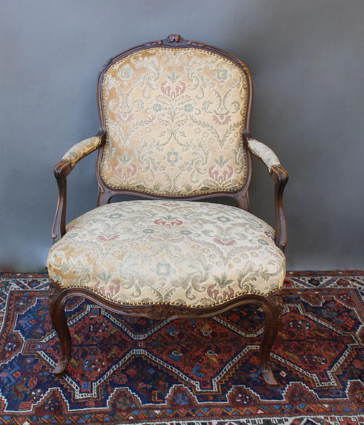 Antiker Sessel aus dem 19. Jahrhundert-3