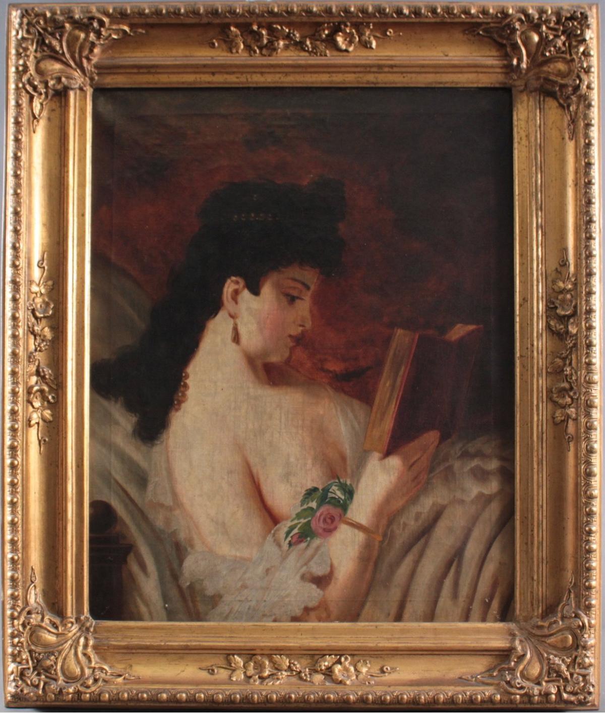 Unbekannter Künstler. 'Junge Damen beim Lesen'