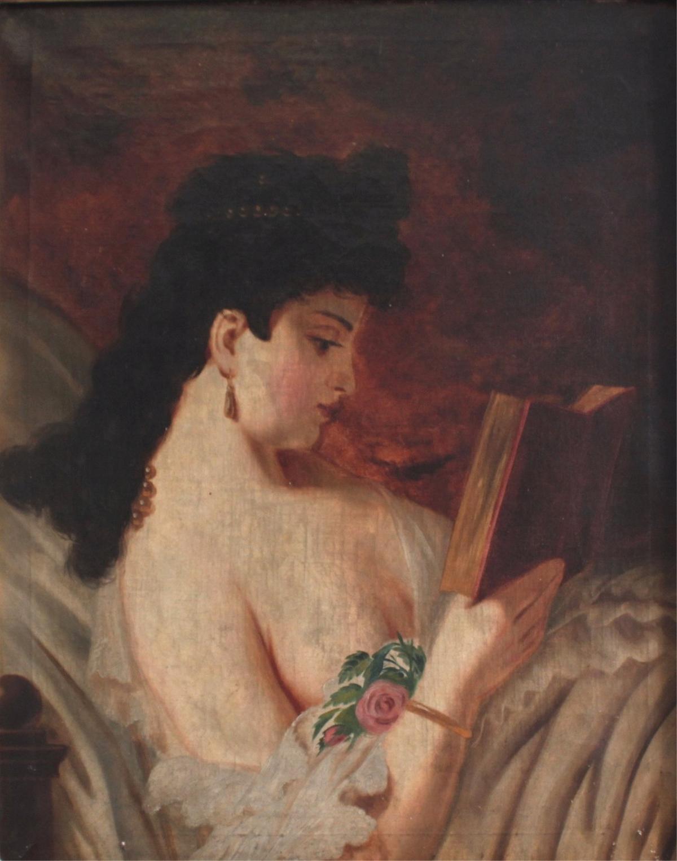 Unbekannter Künstler. 'Junge Damen beim Lesen'-2