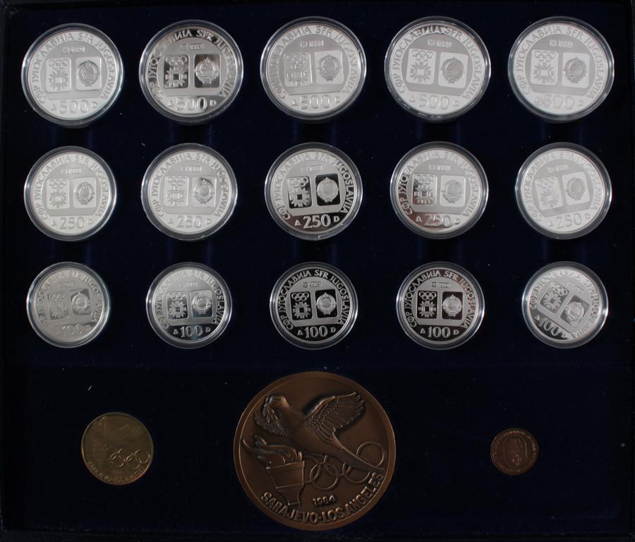 Griechenland, Olympische Spiele 1984, Silbermünzen in PP, Leichtathletik-2