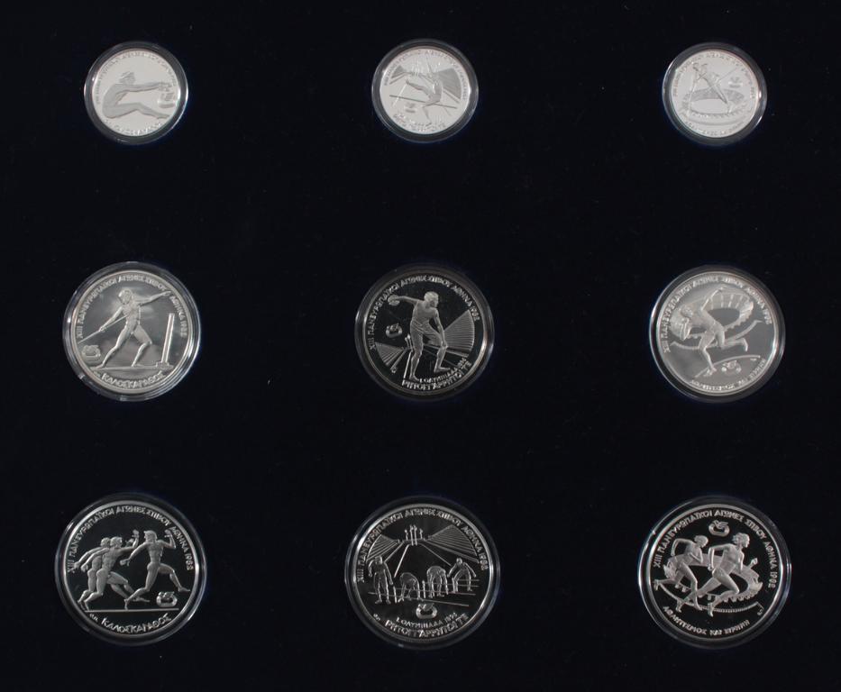 Griechenland, Olympische Spiele 1984, Silbermünzen in PP, Leichtathletik-3
