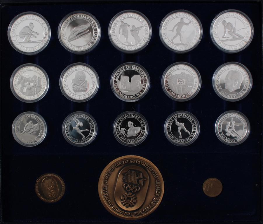 Griechenland, Olympische Spiele 1984, Silbermünzen in PP, Leichtathletik-6