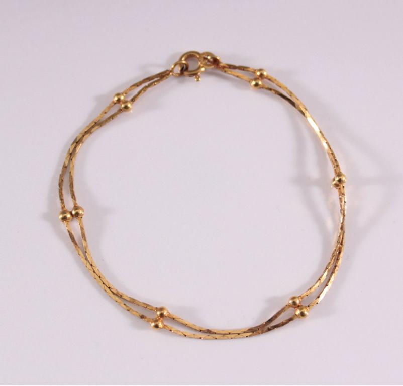 Damenarmband aus 8 Karat Gelbgold