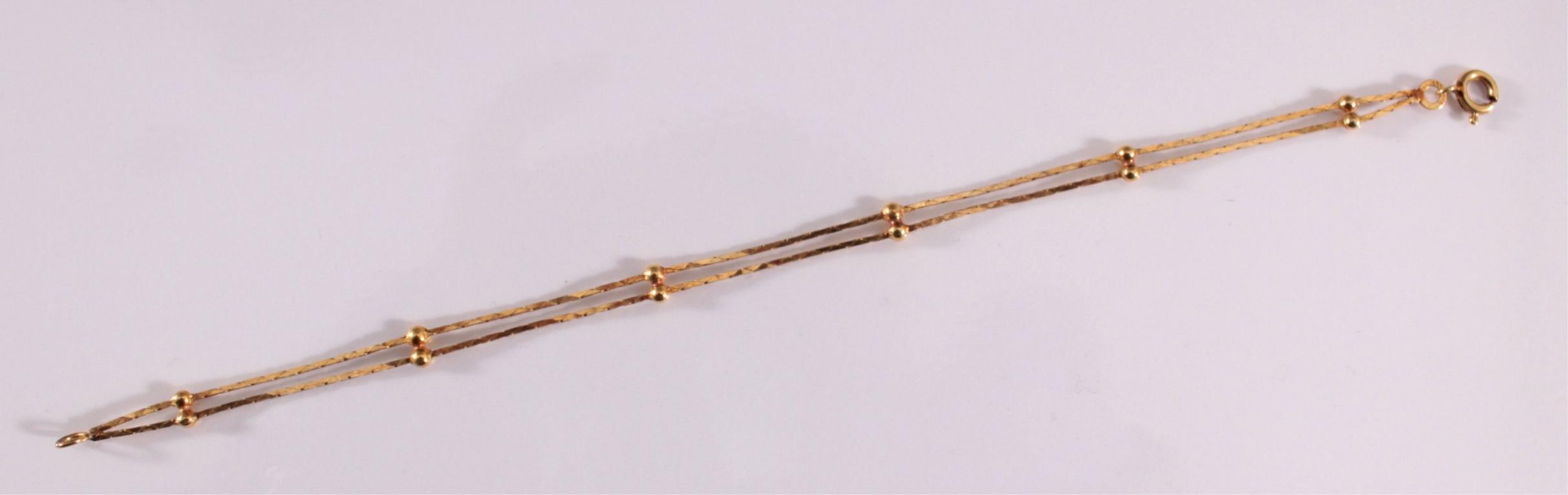 Damenarmband aus 8 Karat Gelbgold-2