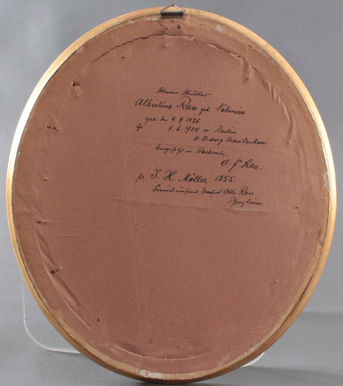 Porträt der Albertine Rau geb. Nebenius 4.9.1826 – 8.6.1904-2
