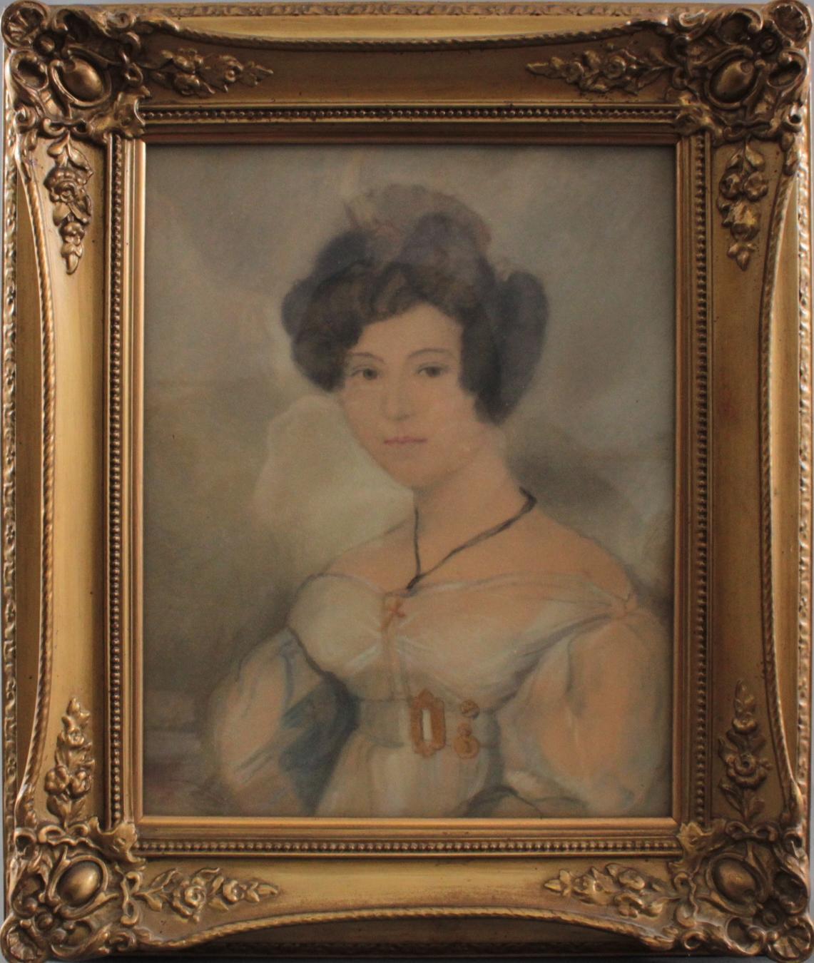 Damenporträt nach links um 1900