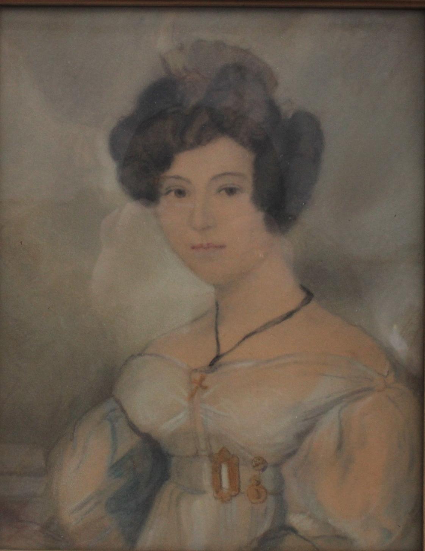 Damenporträt nach links um 1900-2
