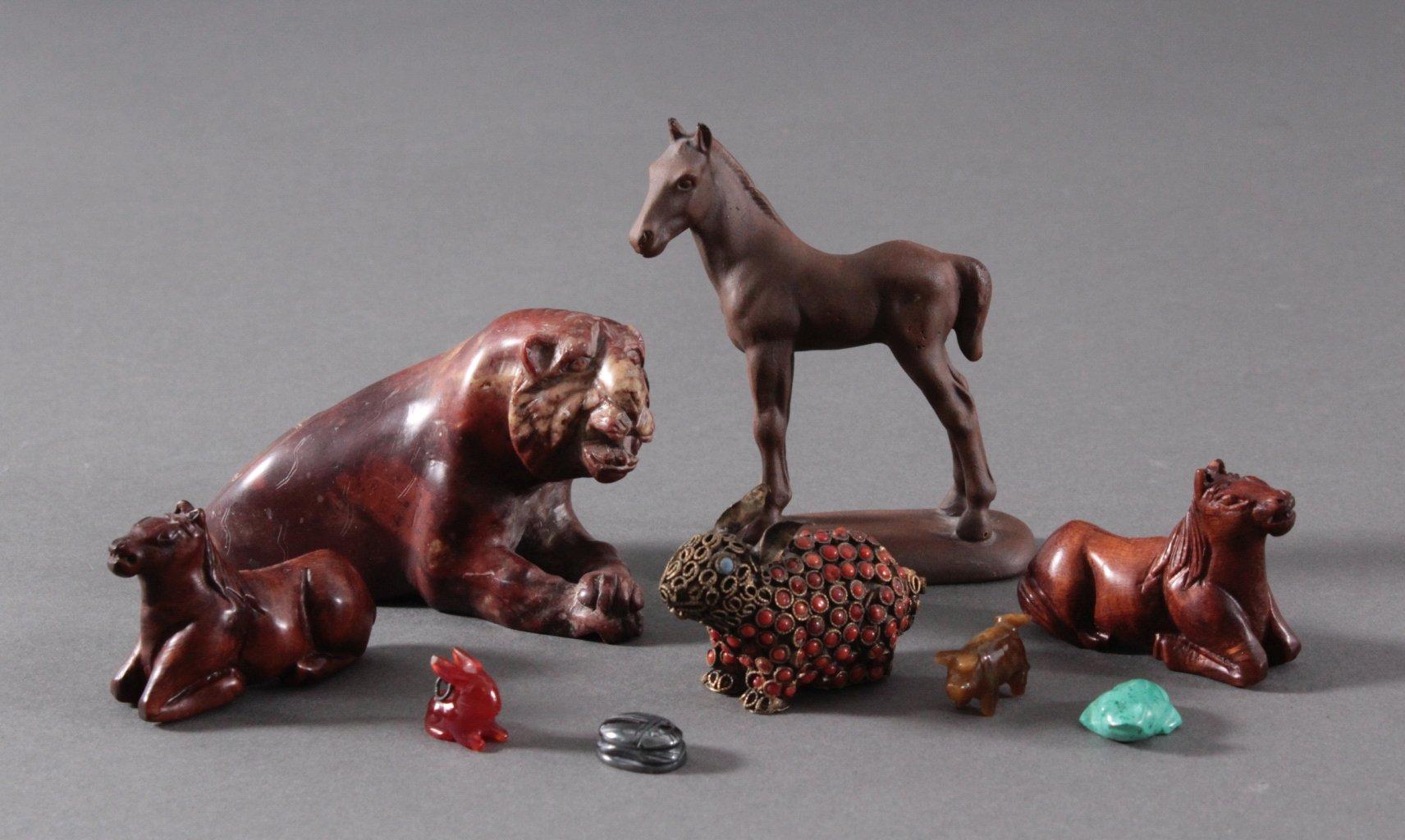 Konvolut Tier-Figuren. 9-Teile