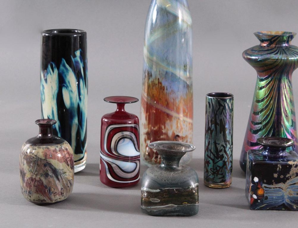 Acht Glaskunst-Vasen-2