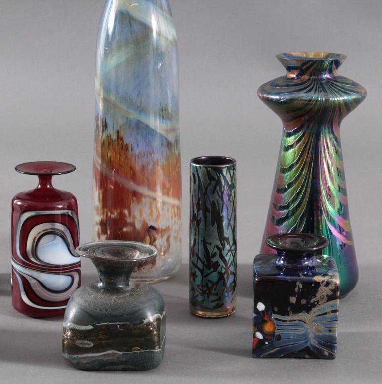 Acht Glaskunst-Vasen-3