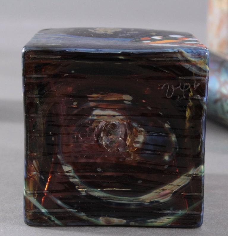 Acht Glaskunst-Vasen-4