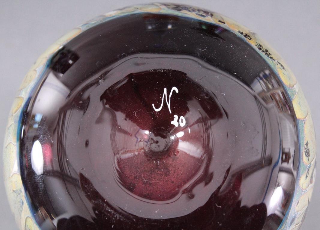 Acht Glaskunst-Vasen-5