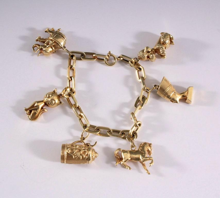 Bettelarmband aus 14 Karat Gelbgold