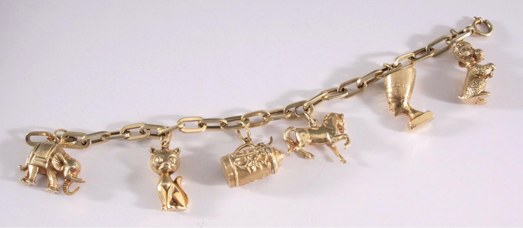 Bettelarmband aus 14 Karat Gelbgold-2