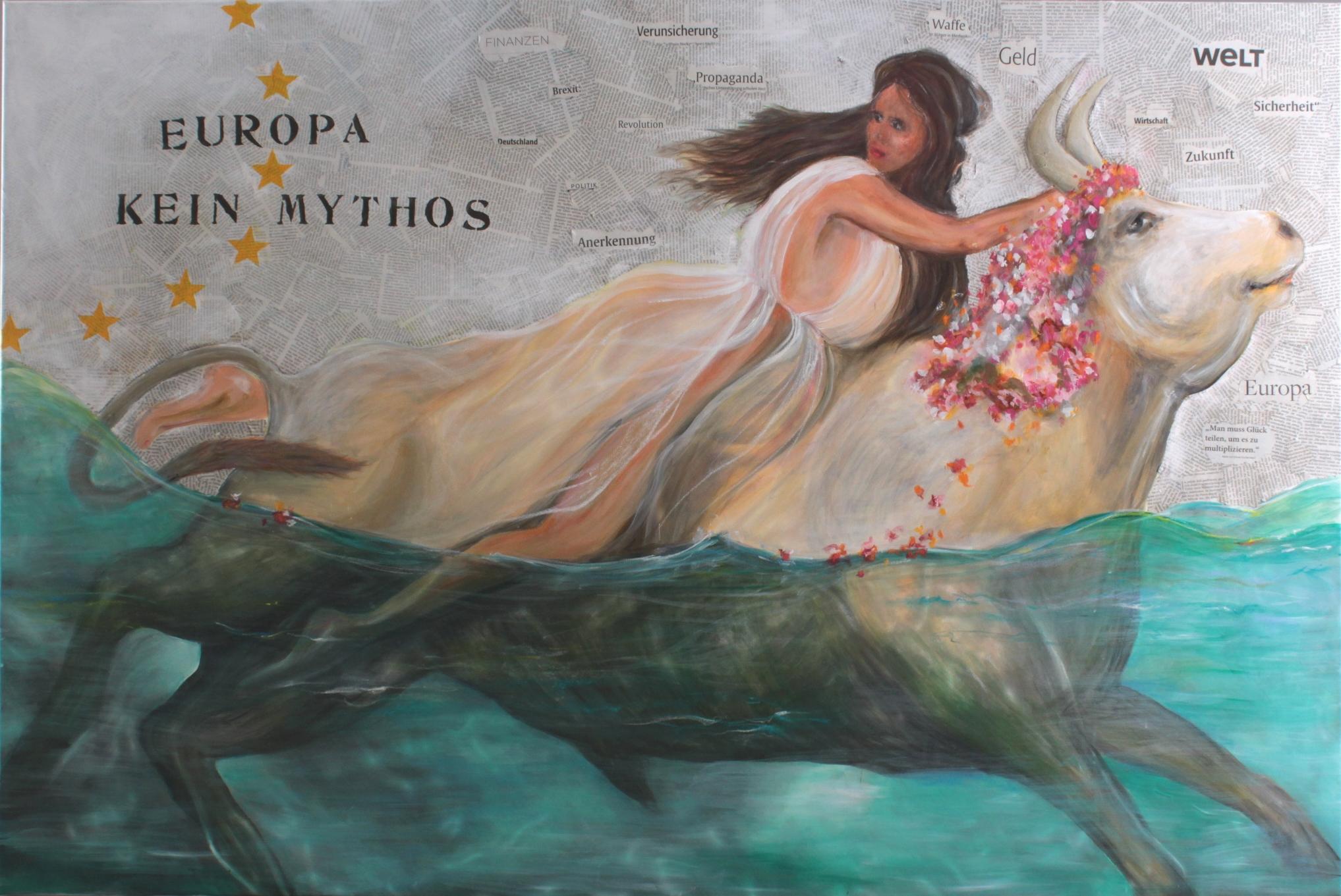 Gemälde zum Thema 'Europa – kein Mythos'