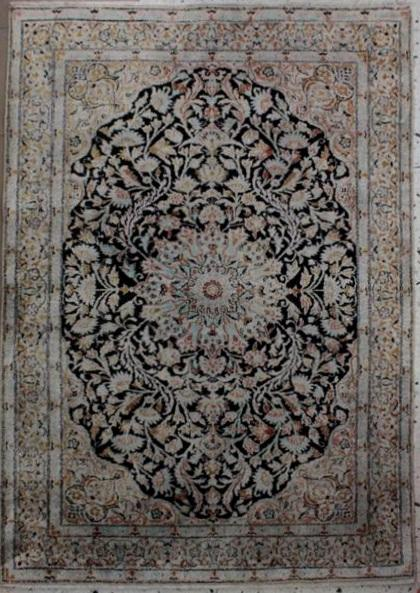 Esfahan Seidenteppich 2. Hälfte 20 Jh.