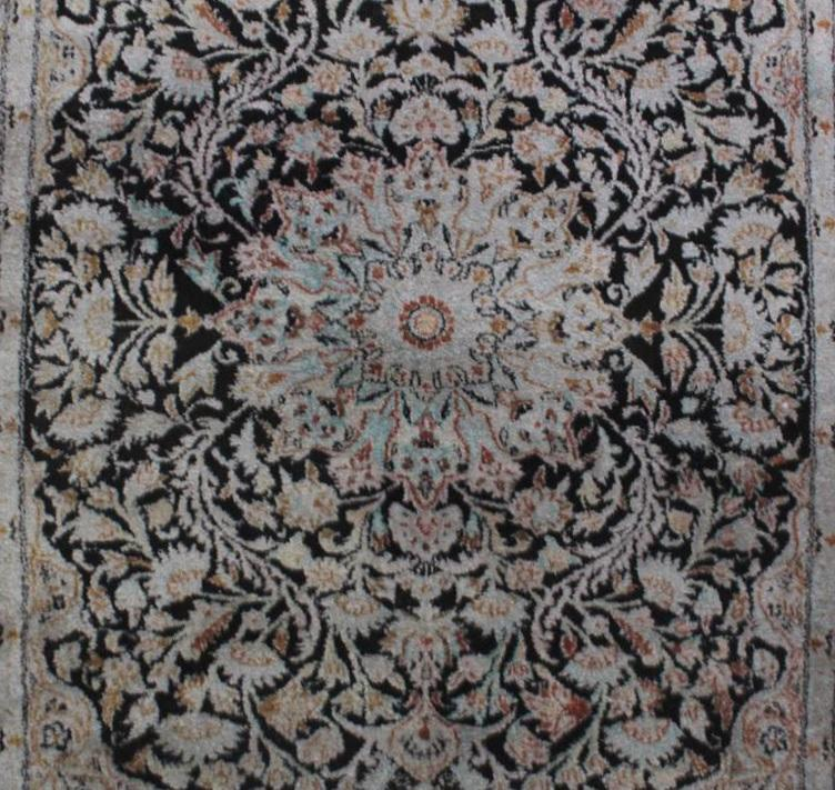 Esfahan Seidenteppich 2. Hälfte 20 Jh.-2