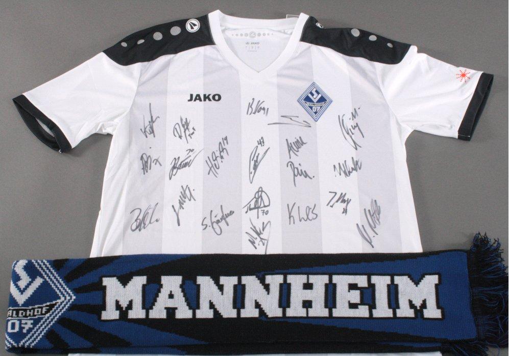 Handsigniertes Trikot SV Waldhof Mannheim Saison 2016/17