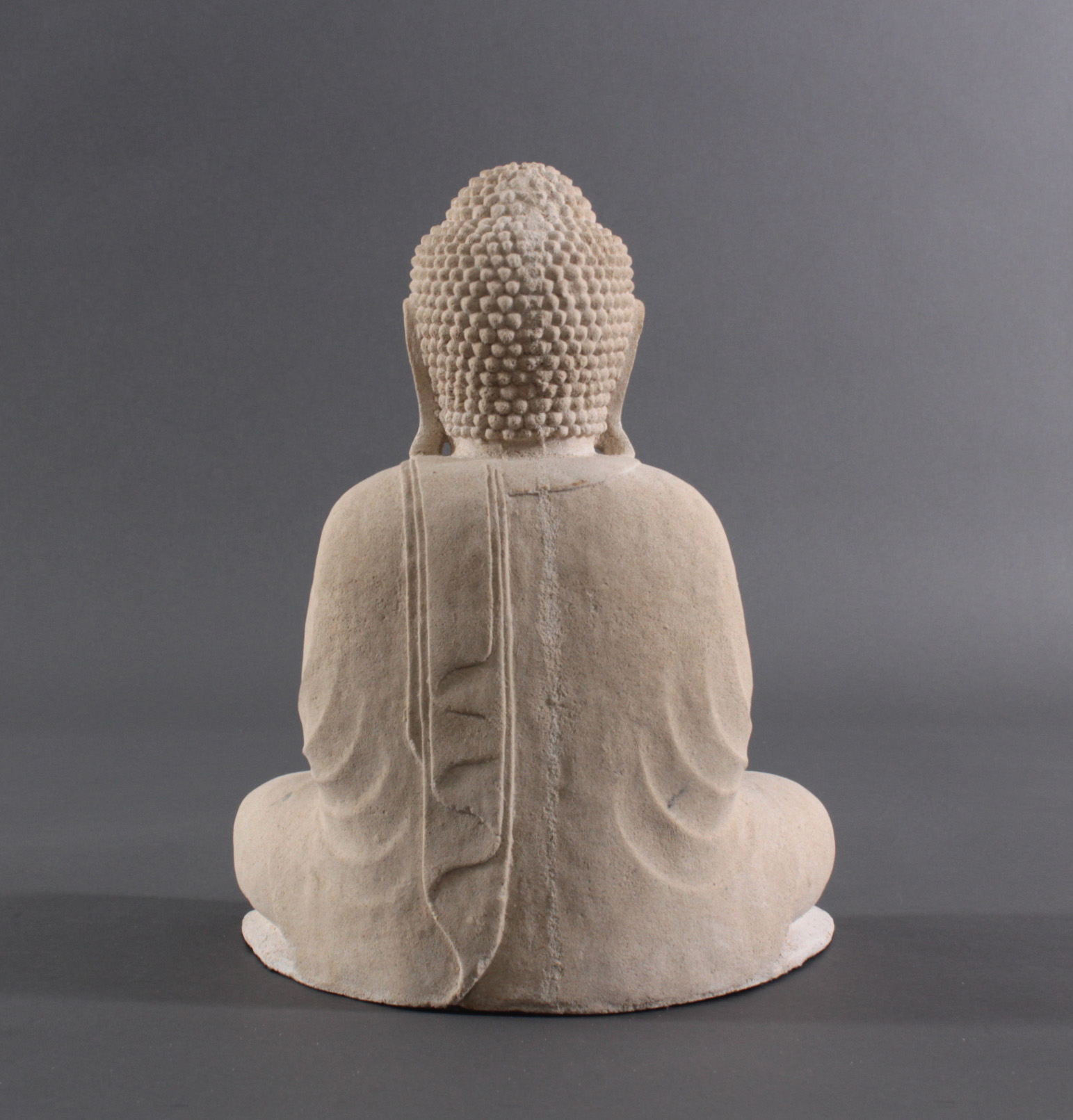 Buddha Figur Sandstein – Besinnung und Meditation-2