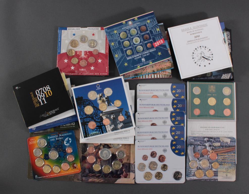 23 Euro KMS, 2010 mit einigen Kleinstaaten und Sondermünzen
