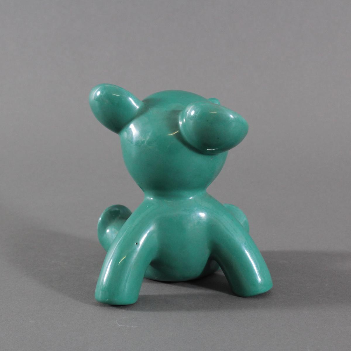 Keramik-Miniaturtierplastik, 'Bär', Karlsruher Majolika, um 1956-88, Entw.: Walter Bosse-4